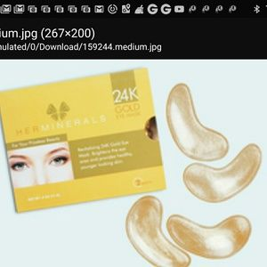 HERMINERALS 24K Gold Eye Mask Duo 2 pairs